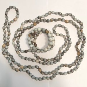 Jewelry - African Zulu grey seed necklace and bracelet